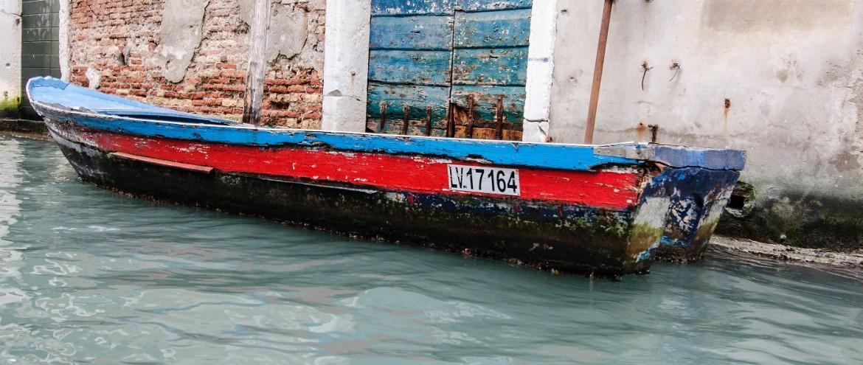 Loďka v Benátkách